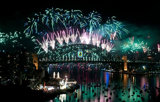 Simply The Best ! - Sydney NYE Fireworks  #3 by Philip Johnson