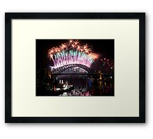 Simply The Best ! - Sydney NYE Fireworks  #2 Framed Print