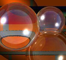 Bubbles on bricks by Benedikt Amrhein