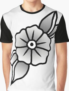 Plain Flower Graphic T-Shirt