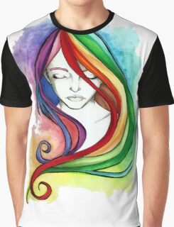 Coloured Hair Graphic T-Shirt