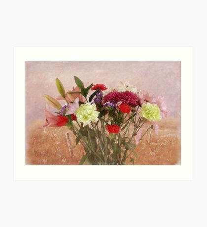 Bouquet in a Window ~ Painting Style Art Print