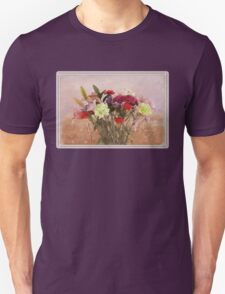 Bouquet in a Window ~ Painting Style Unisex T-Shirt