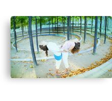 Partner Yoga Canvas Print