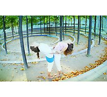 Partner Yoga Photographic Print
