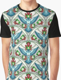Bluebird In The Strawberry Patch  Graphic T-Shirt