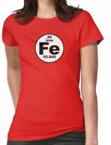 Fe - Iron Womens Fitted T-Shirt