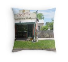 Learmonth Antiques former Bootas hairdressers Throw Pillow