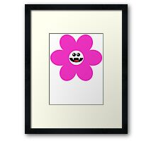 SAVAGE FLOWER PINK Framed Print