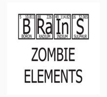 Brains Zombie Elements Periodic Table One Piece - Long Sleeve