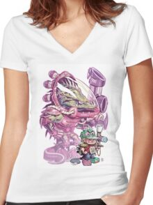 The Power of Imagination Women's Fitted V-Neck T-Shirt