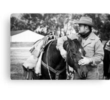 Cowboy & His Partner Canvas Print
