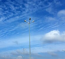 a sea of lamps under the blue sky by feiermar