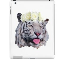 White Tiger Flower Crown iPad Case/Skin