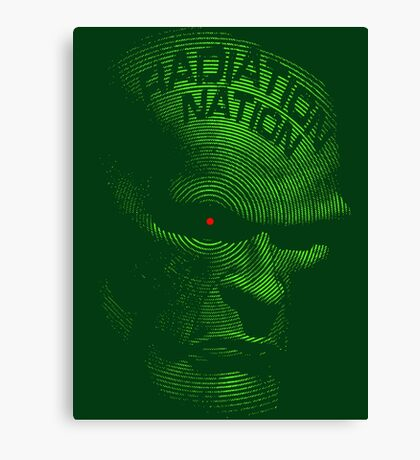 Radiation Nation (with text) Canvas Print