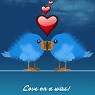 LOVE ON A WIRE by peter chebatte