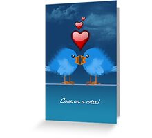 LOVE ON A WIRE Greeting Card