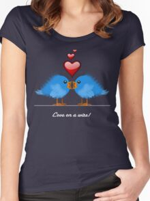 LOVE ON A WIRE Women's Fitted Scoop T-Shirt