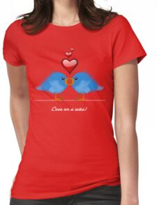 LOVE ON A WIRE Womens Fitted T-Shirt