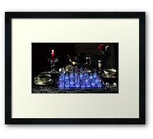 Chess By Candlelight with Tea Framed Print