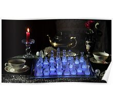 Chess By Candlelight with Tea Poster