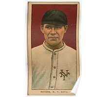 Benjamin K Edwards Collection Meyers New York Giants baseball card portrait 002 Poster