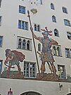 David and Goliath mural Regensberg, Germany by Margaret  Hyde