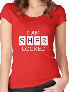 I AM SHER - LOCKED Women's Fitted Scoop T-Shirt