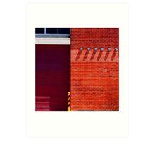 Geometric Urban Brick  Art Print