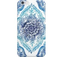 Indian Ink - in blues iPhone Case/Skin