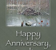 Wedding Anniversary Card - Beaver Lodge by MotherNature
