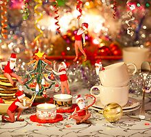Xmas Tea Party =D by Andrew & Mariya  Rovenko