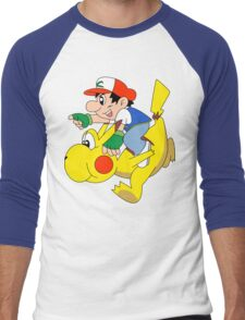 Ashio and Pikashi Men's Baseball ¾ T-Shirt