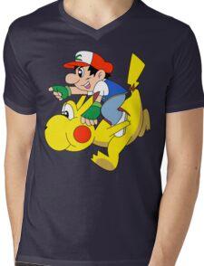 Ashio and Pikashi Mens V-Neck T-Shirt