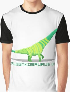 Pixel Futalognkosaurus Graphic T-Shirt