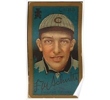 Benjamin K Edwards Collection Frank M Schulte Chicago Cubs baseball card portrait Poster