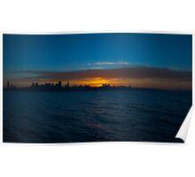San Francisco Sunset Panorama Poster