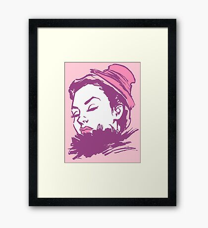 Feather Boa Framed Print