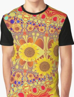 Patterns and Sunflowers Graphic T-Shirt