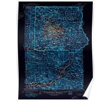 USGS Topo Map Washington State WA Mt Rainier 242675 1928 125000 Inverted Poster