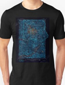 USGS Topo Map Washington State WA Mt Rainier 242675 1928 125000 Inverted Unisex T-Shirt