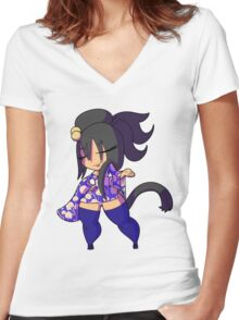 Chibi Gals 2 Women's Fitted V-Neck T-Shirt