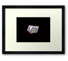 MACRO GAME ON RED BUBBLE Framed Print