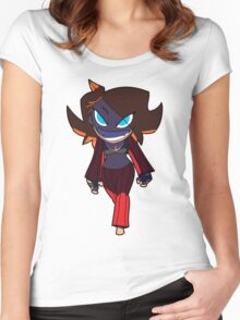 Chibi Gals 9 Women's Fitted Scoop T-Shirt