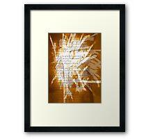 Aflame Framed Print
