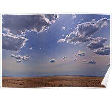 Clouds above the Wellington Plains Poster