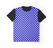 Blue White Checkered iPhone / Samsung Galaxy Case Graphic T-Shirt