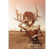 Steampunk Girl Photographic Print