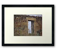 history - deteriorated home Framed Print