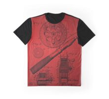 Fishing Reel Patent 1906 - Red Graphic T-Shirt